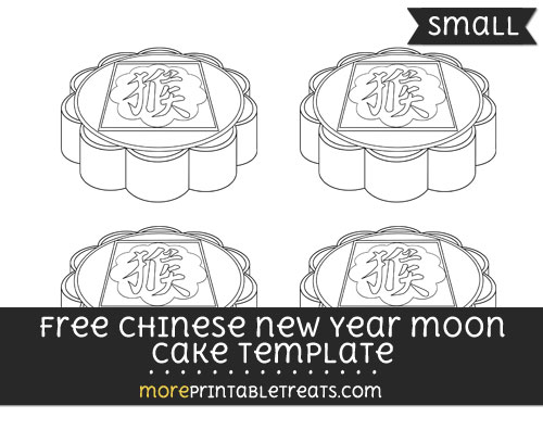 Free Chinese New Year Moon Cake Template - Small