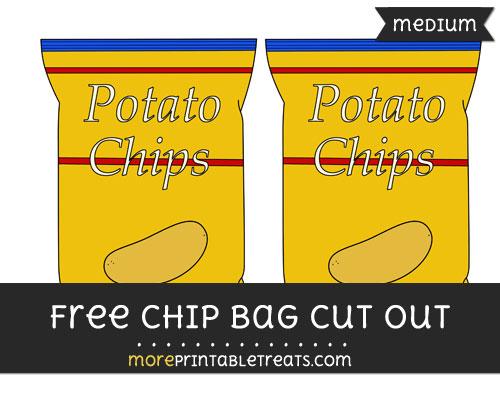 Free Chip Bag Cut Out - Medium Size Printable