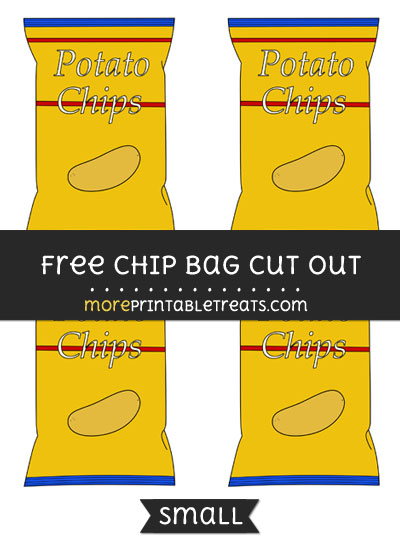 Free Chip Bag Cut Out - Small Size Printable