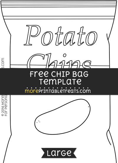 Free Chip Bag Template - Large