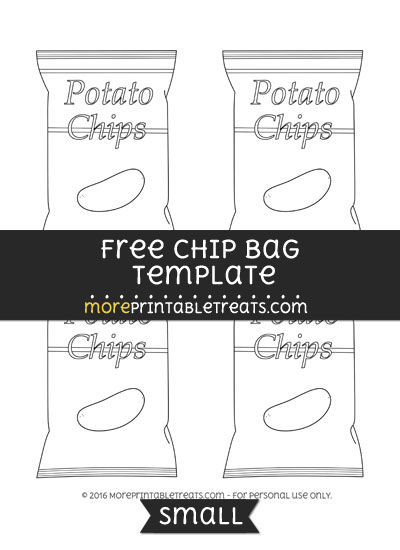 Free Chip Bag Template - Small