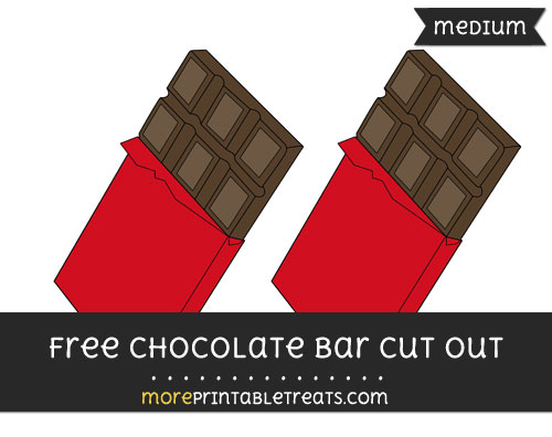 Free Chocolate Bar Cut Out - Medium Size Printable