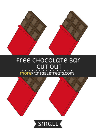 Free Chocolate Bar Cut Out - Small Size Printable