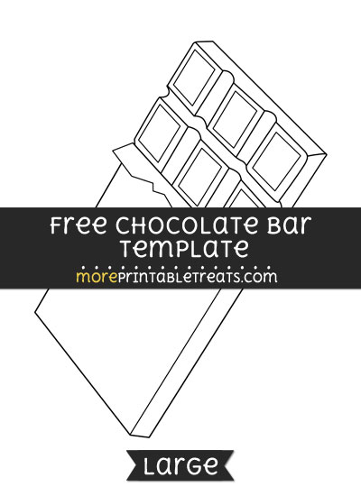 Free Chocolate Bar Template - Large
