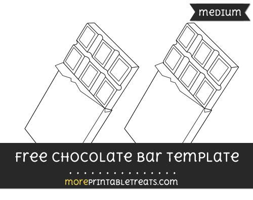 Free Chocolate Bar Template - Medium