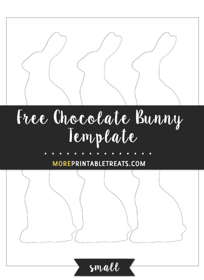 Free Chocolate Bunny Template - Small