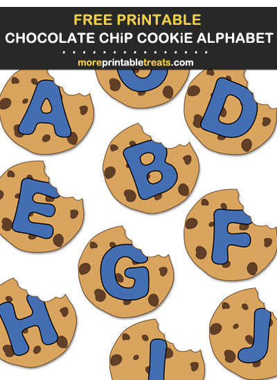 DIY Chocolate Chip Cookie Banner Alphabet Letters - Print Cut Hang