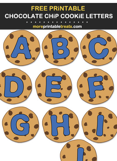 DIY Cookie Monster Chocolate Chip Cookie Banner Alphabet Letters - Print Cut Hang