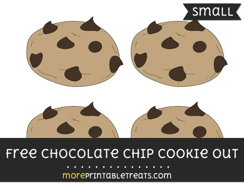 Free Chocolate Chip Cookie Cut Out - Small Size Printable