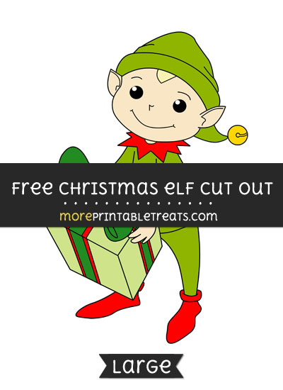 Free Christmas Elf Cut Out - Large size printable