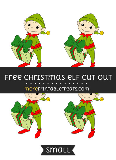 Free Christmas Elf Cut Out - Small Size Printable