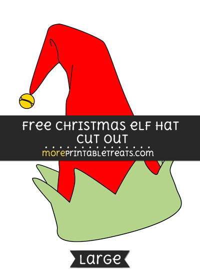 Free Christmas Elf Hat Cut Out - Large size printable
