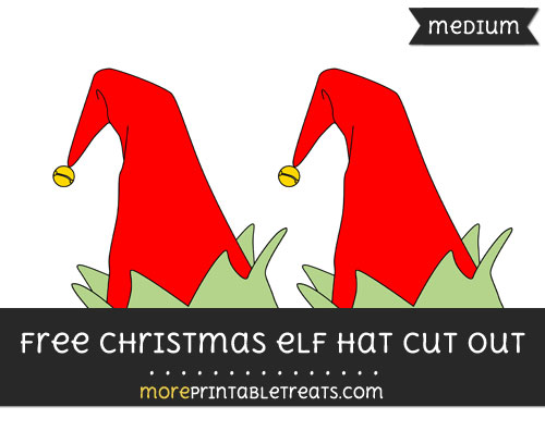 Free Christmas Elf Hat Cut Out - Medium Size Printable