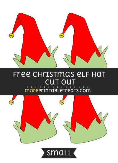 Free Christmas Elf Hat Cut Out - Small Size Printable