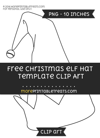 Free Christmas Elf Hat Template - Clipart