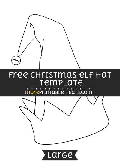 Free Christmas Elf Hat Template - Large