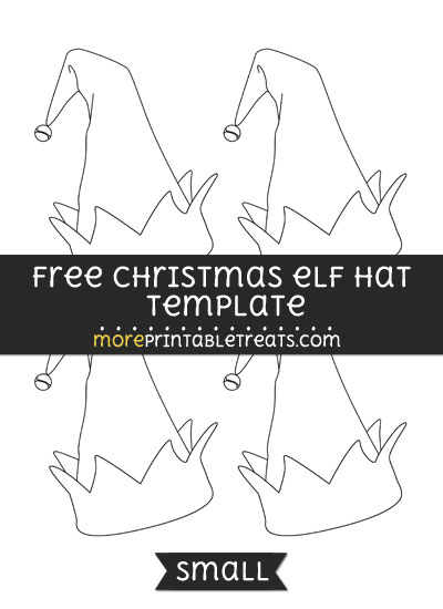 Free Christmas Elf Hat Template - Small