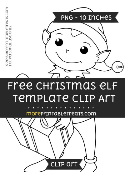 Free Christmas Elf Template - Clipart