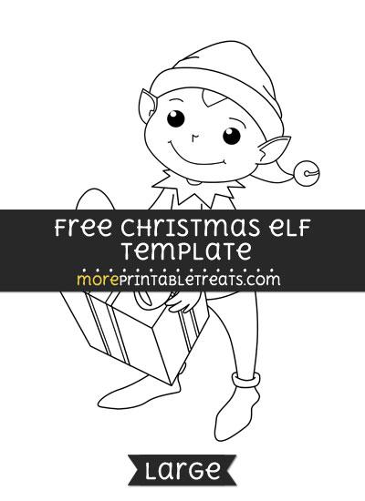 Free Christmas Elf Template - Large