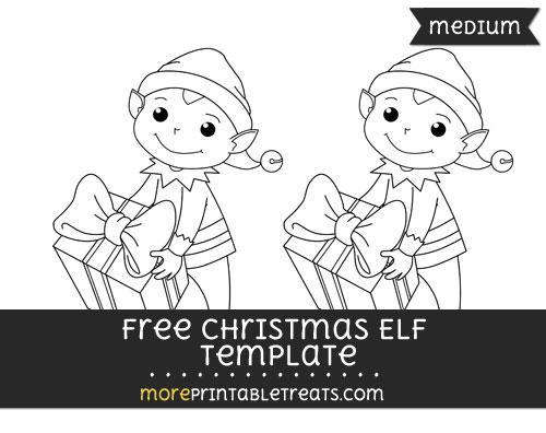 Free Christmas Elf Template - Medium