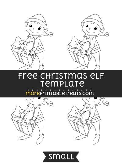 Free Christmas Elf Template - Small