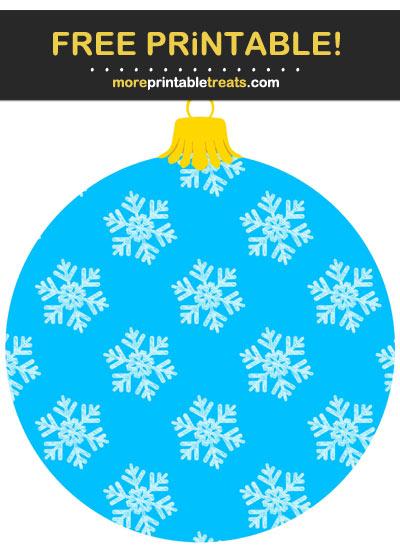 Free Printable Christmas Snowflake Ornament Cut Out