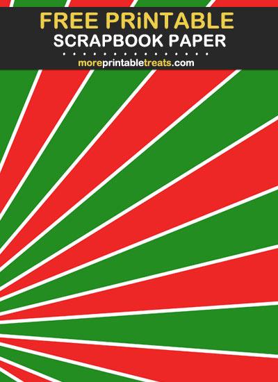 Free Printable Christmas Sunburst Scrapbook Paper