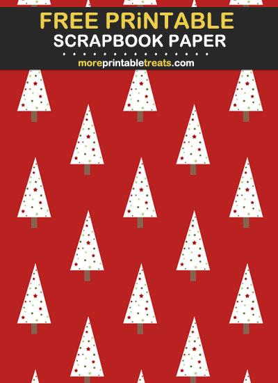 Free Printable Christmas Tree Scrapbook Paper