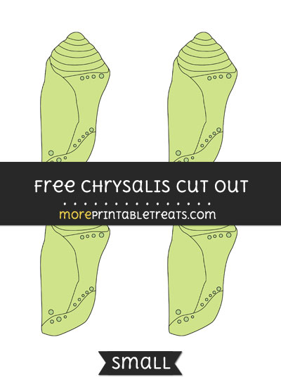 Free Chrysalis Cut Out - Small Size Printable