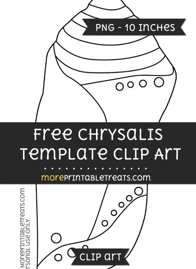 Free Chrysalis Template - Clipart