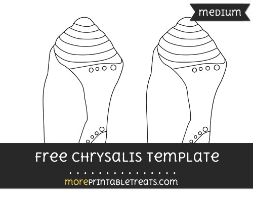 Free Chrysalis Template - Medium