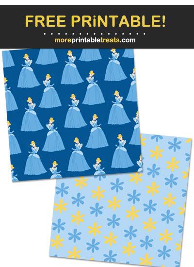 Free Printable Cinderella Scrapbook Papers