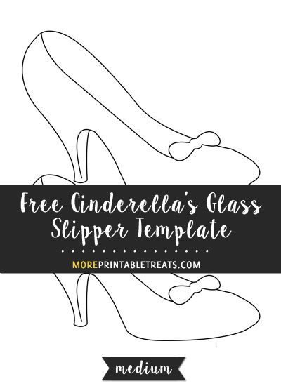 Free Cinderella's Glass Slipper Template - Medium Size