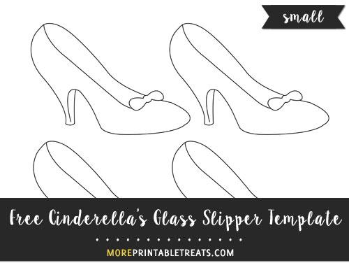 Free Cinderella's Glass Slipper Template - Small Size