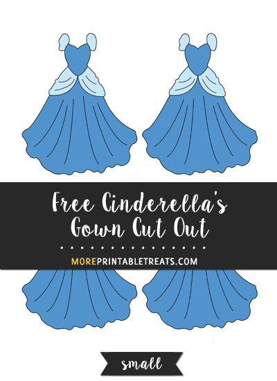 Free Cinderella's Gown Cut Out - Small