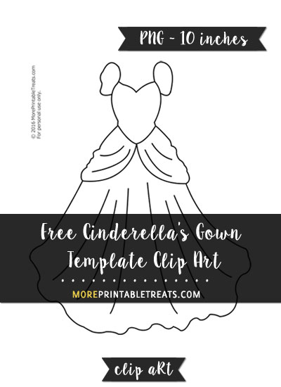 Free Cinderella's Gown Template - Clipart