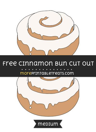 Free Cinnamon Bun Cut Out - Medium Size Printable