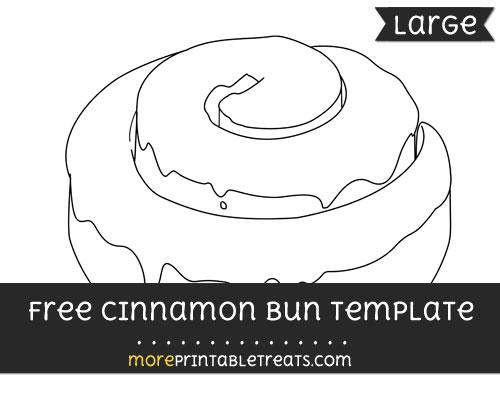 Free Cinnamon Bun Template - Large