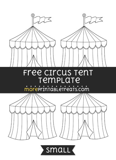 Free Circus Tent Template - Small