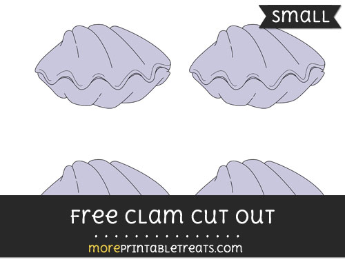Free Clam Cut Out - Small Size Printable
