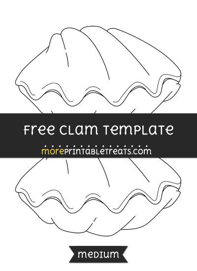 Free Clam Template - Medium