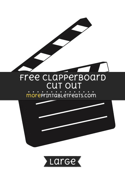 Free Clapperboard Cut Out - Large size printable