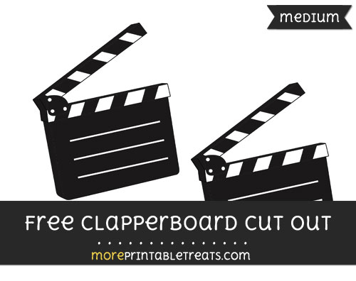 Free Clapperboard Cut Out - Medium Size Printable