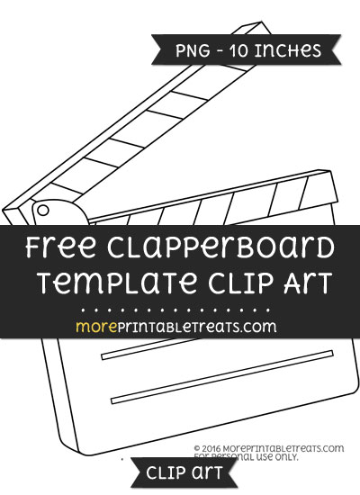 Free Clapperboard Template - Clipart