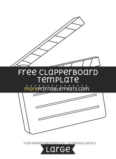 Free Clapperboard Template - Large