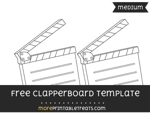 Free Clapperboard Template - Medium