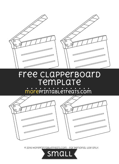 Free Clapperboard Template - Small