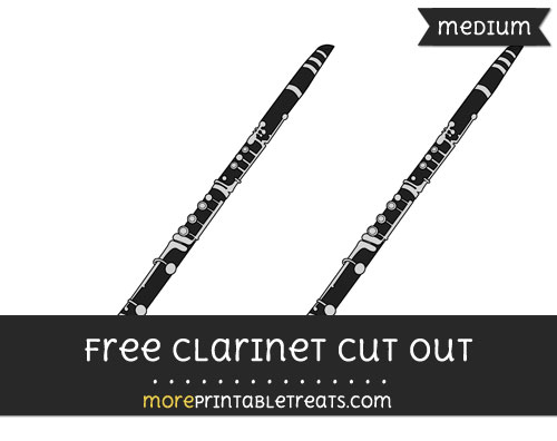 Free Clarinet Cut Out - Medium Size Printable