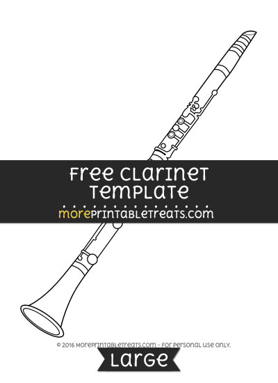 Free Clarinet Template - Large