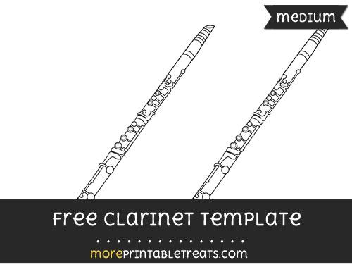 Free Clarinet Template - Medium